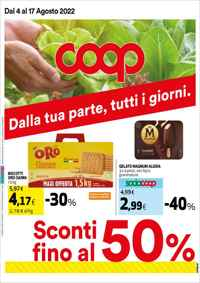 Volantino Coop Unicoop Tirreno Affiliato