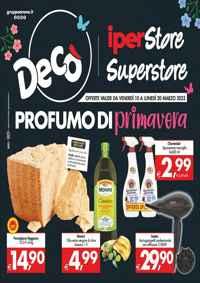 Volantino Maxistore Superstore Decò Gruppo Arena